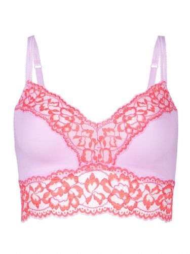 ex M&S PINK LACE  NON-PADDED BRALET SIZES 6-14